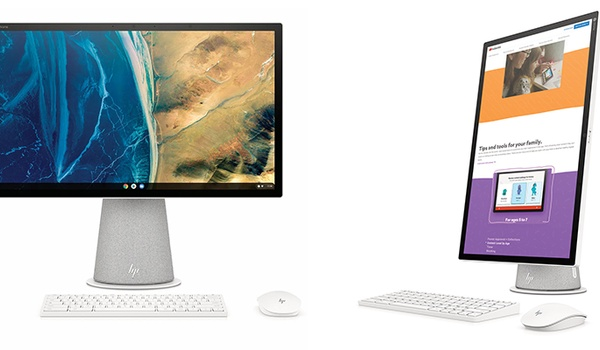 HP Chromebase AiO bezit kantelbaar scherm