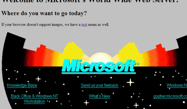 Allereerste Microsoft-site weer te bezoeken