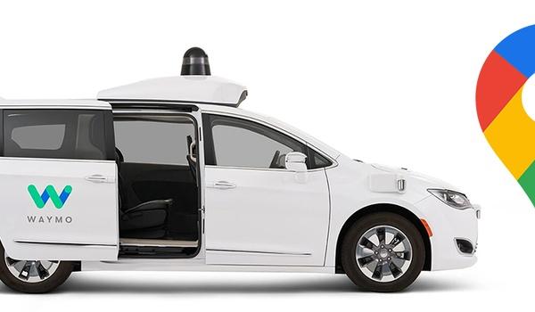 Zelfrijdende taxi van Google op te roepen in Maps