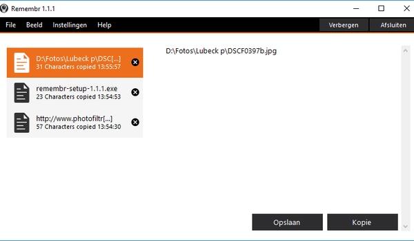 Remembr - vervanger voor het Windows-Klembord