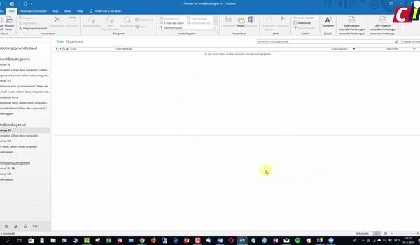Outlook: meerdere accounts