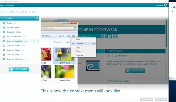 CoolTweak - Voeg handige fotofuncties toe aan Verkenner