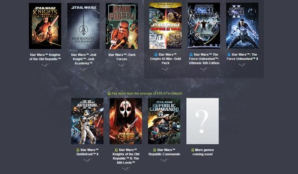 Bepaal je eigen prijs voor al deze Star Wars-games