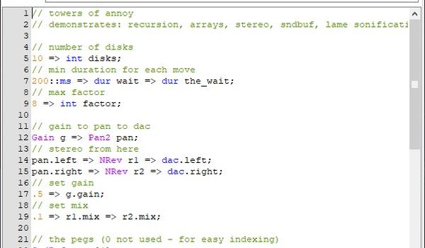 ChucK - Een programmeersysteem om muziek mee te maken