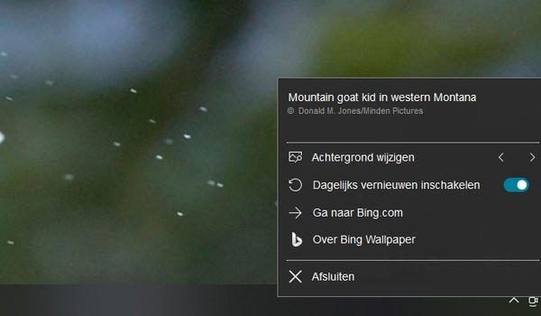 Elke dag een nieuwe achtergrond met Bing Wallpaper-app