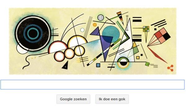 Wassily Kandinsky geëerd door Google