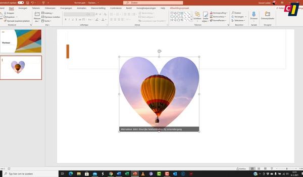 PowerPoint: vormen samenvoegen