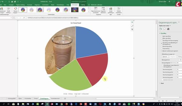 Excel: afbeeldingen in grafieken