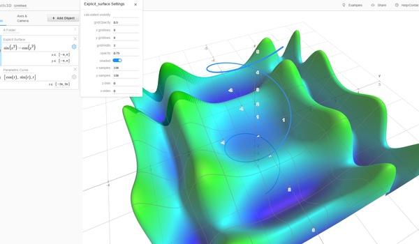 Math3d - Online 3D-grafieken maken