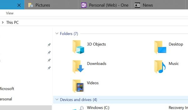 Microsoft stelt tabbladen in Windows 10 uit