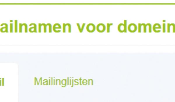 Mail in eigen beheer