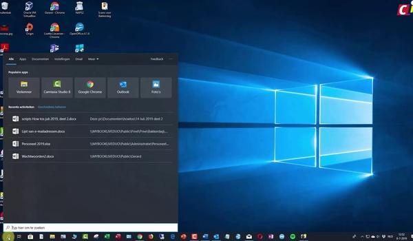 Windows 10: zoeken