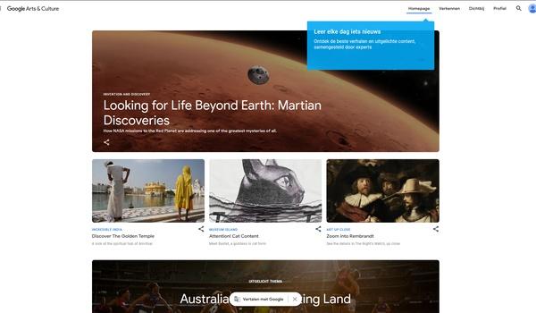 Google Arts and Culture - wereldreis vanuit de luie stoel
