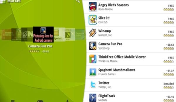 Nieuwe versie Android Market App op komst