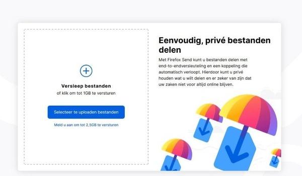 Bestanden-verzender van Firefox eindelijk officieel