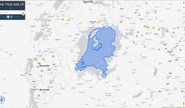 The True Size - Hoe groot zijn landen nu echt?