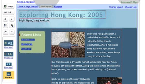 Google lanceert online webeditor