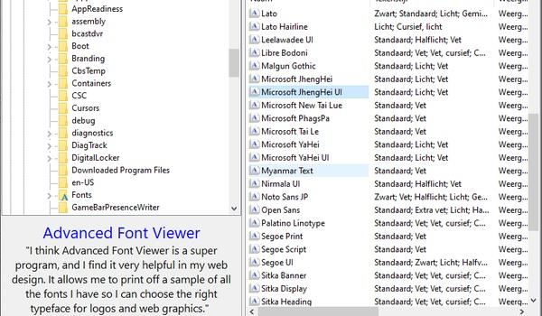 Free Font Renamer - Lettertypes hernoemen