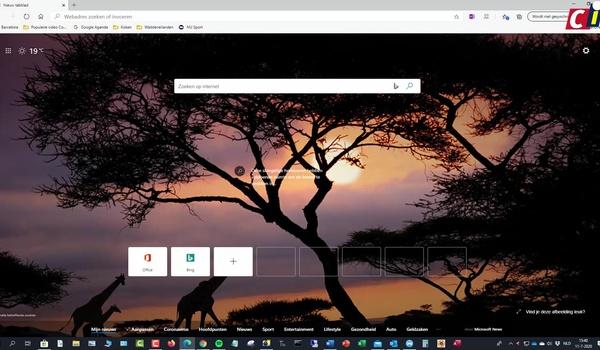 Microsoft Edge: homepage