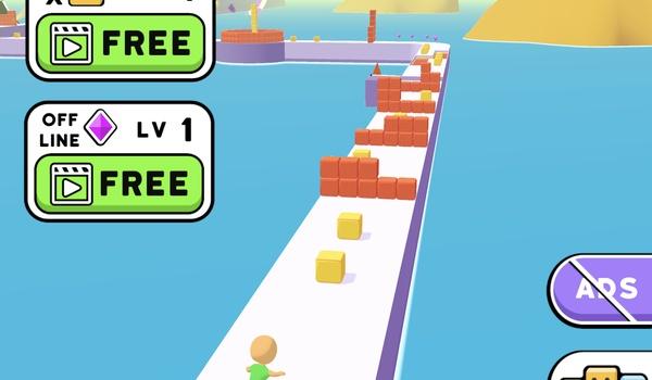 Cube Surfer - Blokken verzamelen