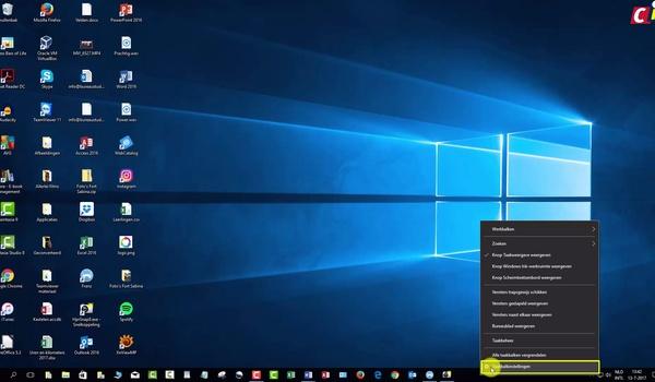 De opmaak van de taakbalk aanpassen in Windows 10