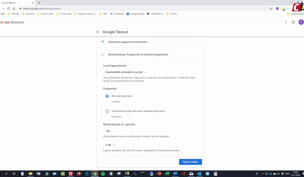 Outlook en Gmail back-uppen