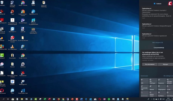 Windows 10: Actiecentrum