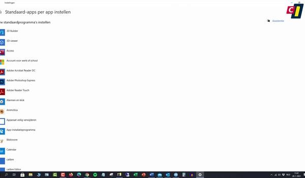 Windows 10: standaardapplicatie per app instellen