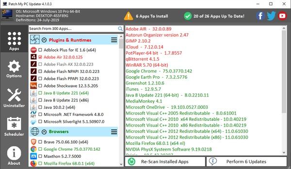 Patch my PC - Veel bekende programma's in één keer tegelijk updaten