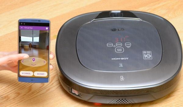 Hom-Bot Turbo+ van LG is zowel stofzuiger als veiligheidscamera