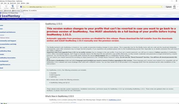 SeaMonkey - Netscape in het nieuw