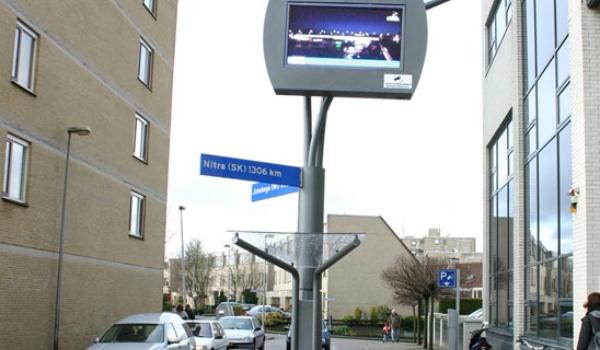 Proef met multimediale straatlantaarn van start gegaan