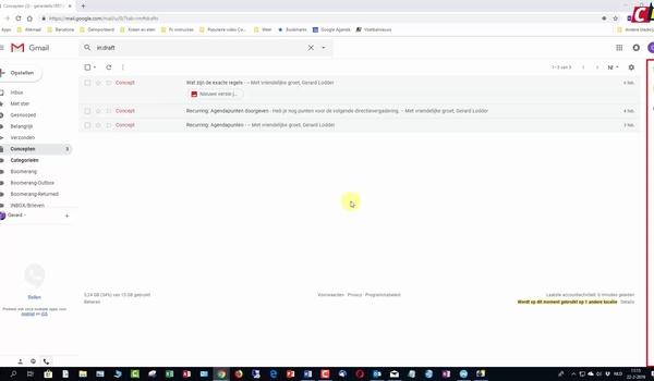Zijvenster van Gmail gebruiken