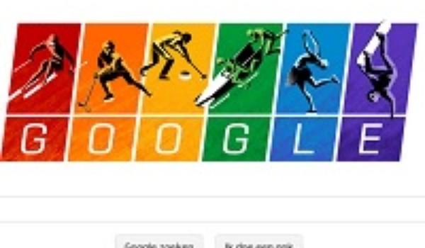 Google steunt homo's met Olympische regenboogvlag op homepage