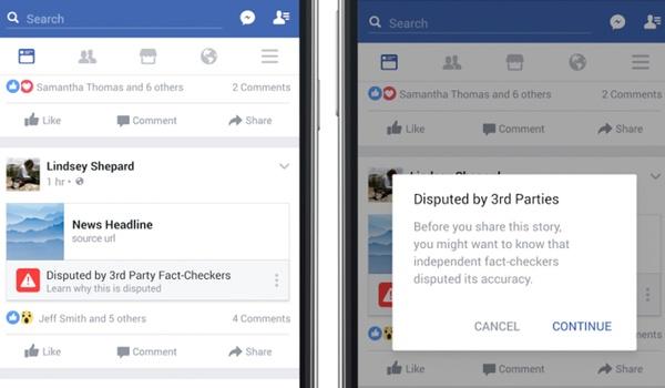 Facebook waarschuwt duidelijker voor nepnieuws