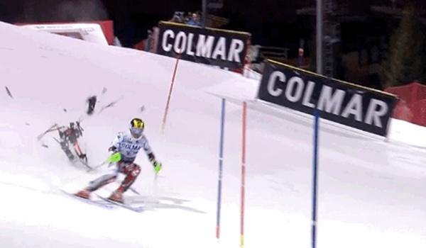 Ski-kampioen rakelings gemist door neerstortende drone