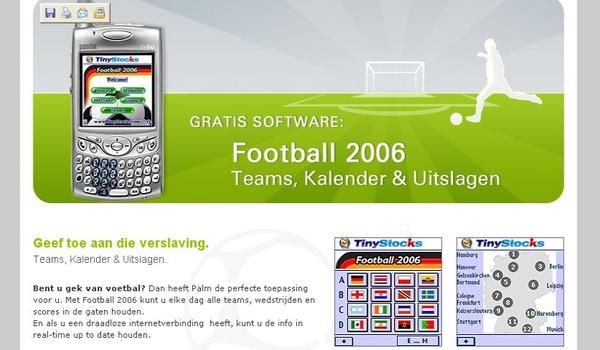 WK-gekte: voetbal-software op de Palm