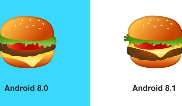 Kaas bovenop in vernieuwde cheeseburger-emoji