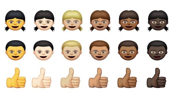 Apple onthult smileys met verschillende huidskleuren