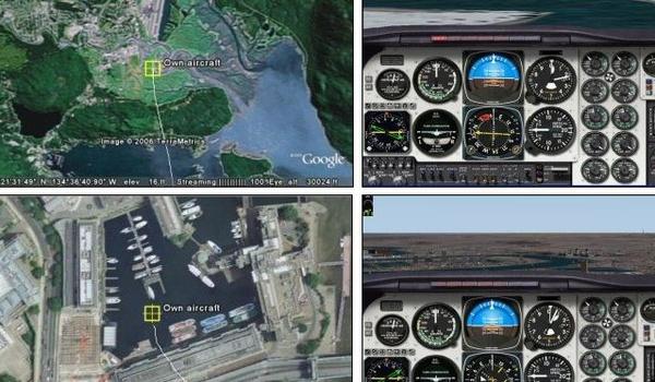 Google Earth maakt Flight Simulator nóg realistischer