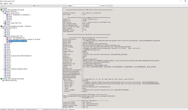 USB Device Tree Viewer - Informatie over usb-poorten