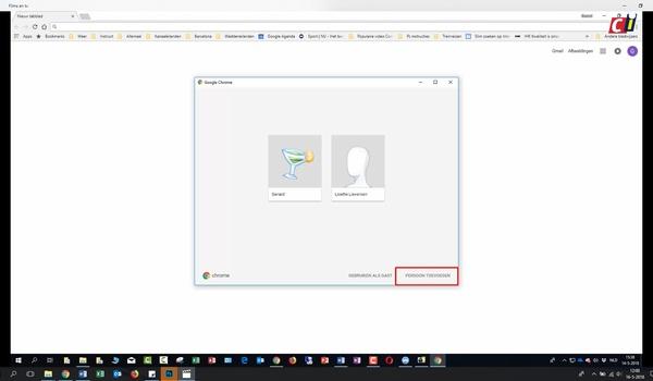 Profielen gebruiken in Google Chrome