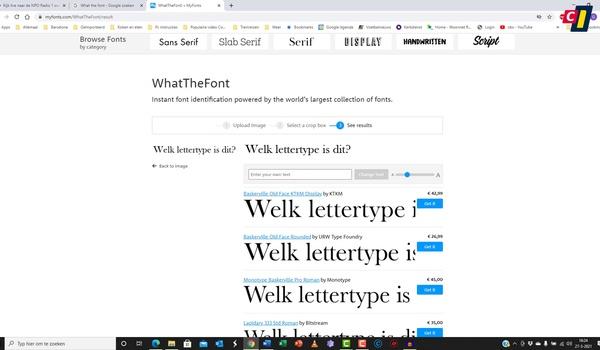Lettertype achterhalen met WhatTheFont