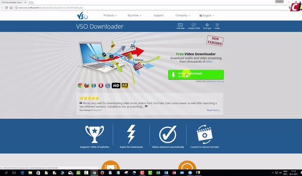 Audio en video downloaden met VSO Downloader