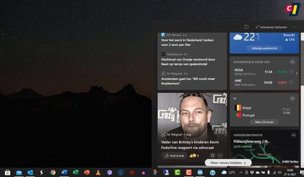 Nieuws en interesses in Windows 10