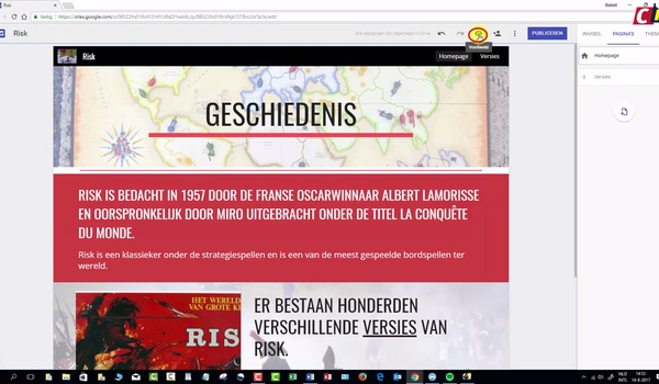 Google Sites: pagina's en afbeeldingen
