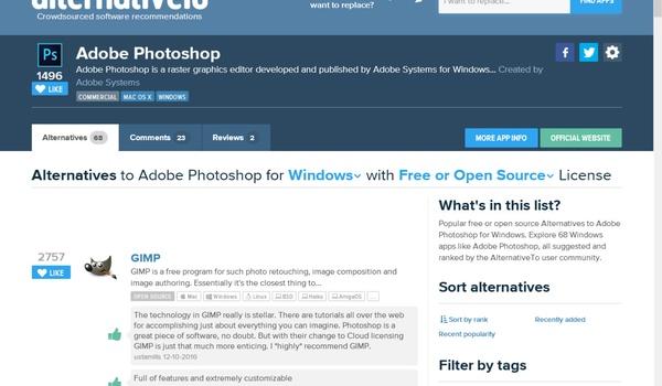 Alternativeto - Gratis vervangers voor commerciële software