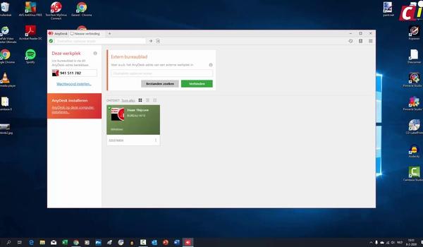 AnyDesk: verbinding met andere pc maken