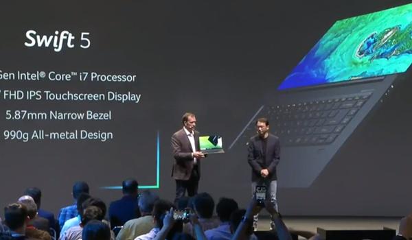 IFA 2018: Acer steekt Swift-laptops in nog dunnere jasjes