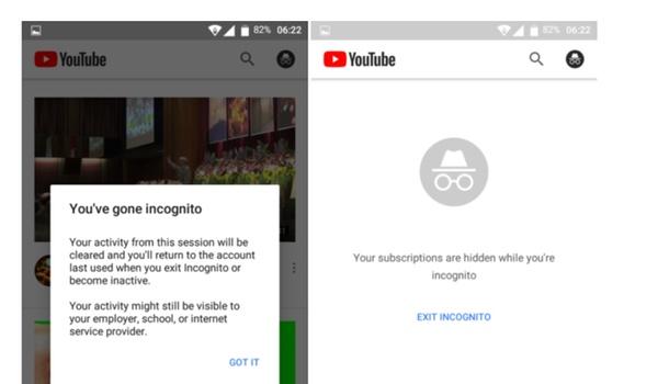 YouTube krijgt eigen incognito-modus